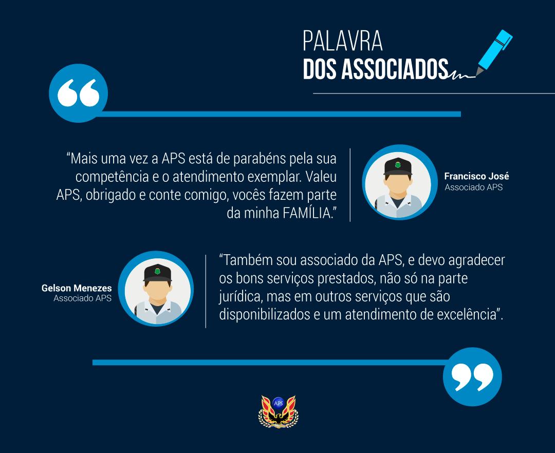 PALAVRA DOS ASSOCIADOS: FRANCISCO JOSÉ E GELSON MENEZES