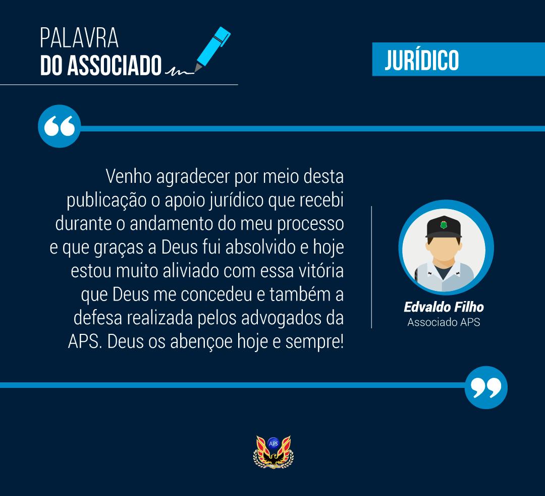 PALAVRA DO ASSOCIADO: EDVALDO DOS SANTOS FILHO