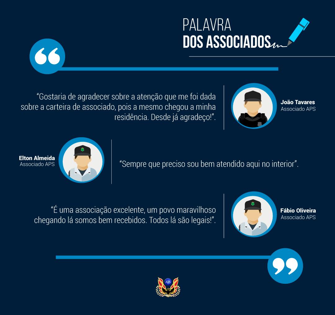 PALAVRAS DOS ASSOCIADOS: JOÃO, ELTON E FÁBIO