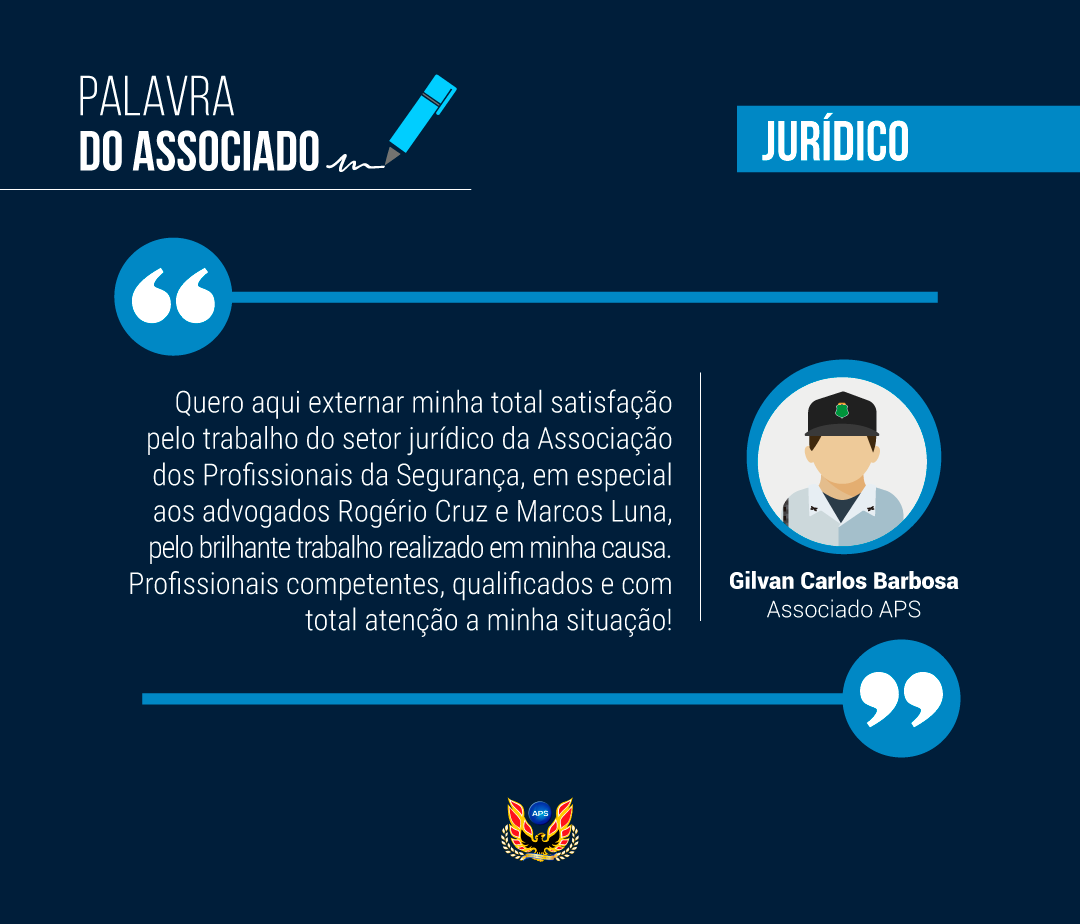 PALAVRA DO ASSOCIADO: GILVAN CARLOS BARBOSA