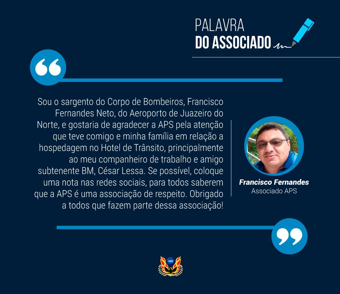 PALAVRA DO ASSOCIADO: FRANCISCO FERNANDES NETO