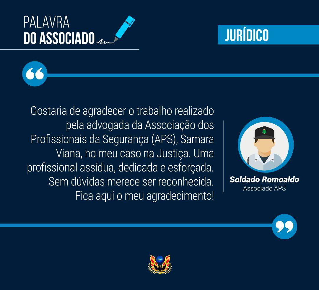 PALAVRA DO ASSOCIADO: SOLDADO ROMOALDO